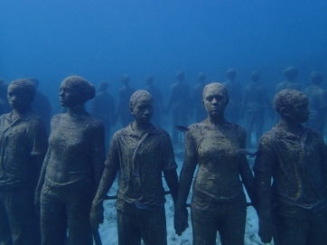 Underwater sculpture garden in Grenada