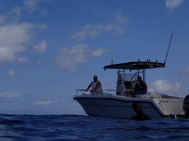 Gregory Lenz on a snorkeling trip in Grenada